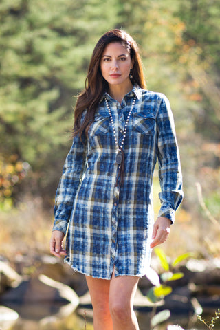 Ryan Michael Women's Lakeside Plaid Dress