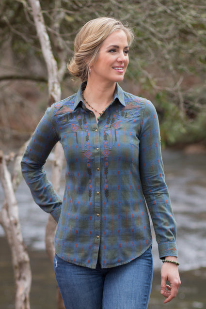 Ryan Michael Women's Plateau Valley Plaid Shirt - SALE