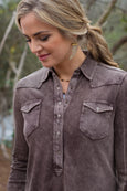 Ryan Michael Women's Silverthorne Knit Pullover - Buffalo
