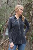 Ryan Michael Women's Silverthorne Knit Pull Over - Crow - SALE