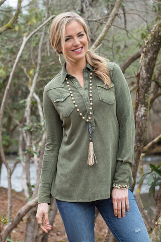 Ryan Michael Women's Silverthorne Knit Pullover - Forest - SALE