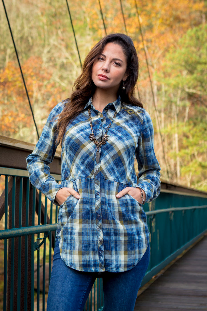 Ryan Michael Women's Lakeside Plaid Tunic - SALE