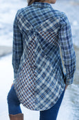 Ryan Michael Women's Kliskon Plaid Tunic