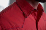 Ryan Michael Classic Whip Stitch Shirt - Red - SALE