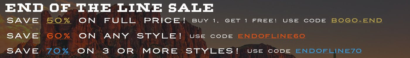 Summer Sale - Save 30-40% on a large selection of styles!