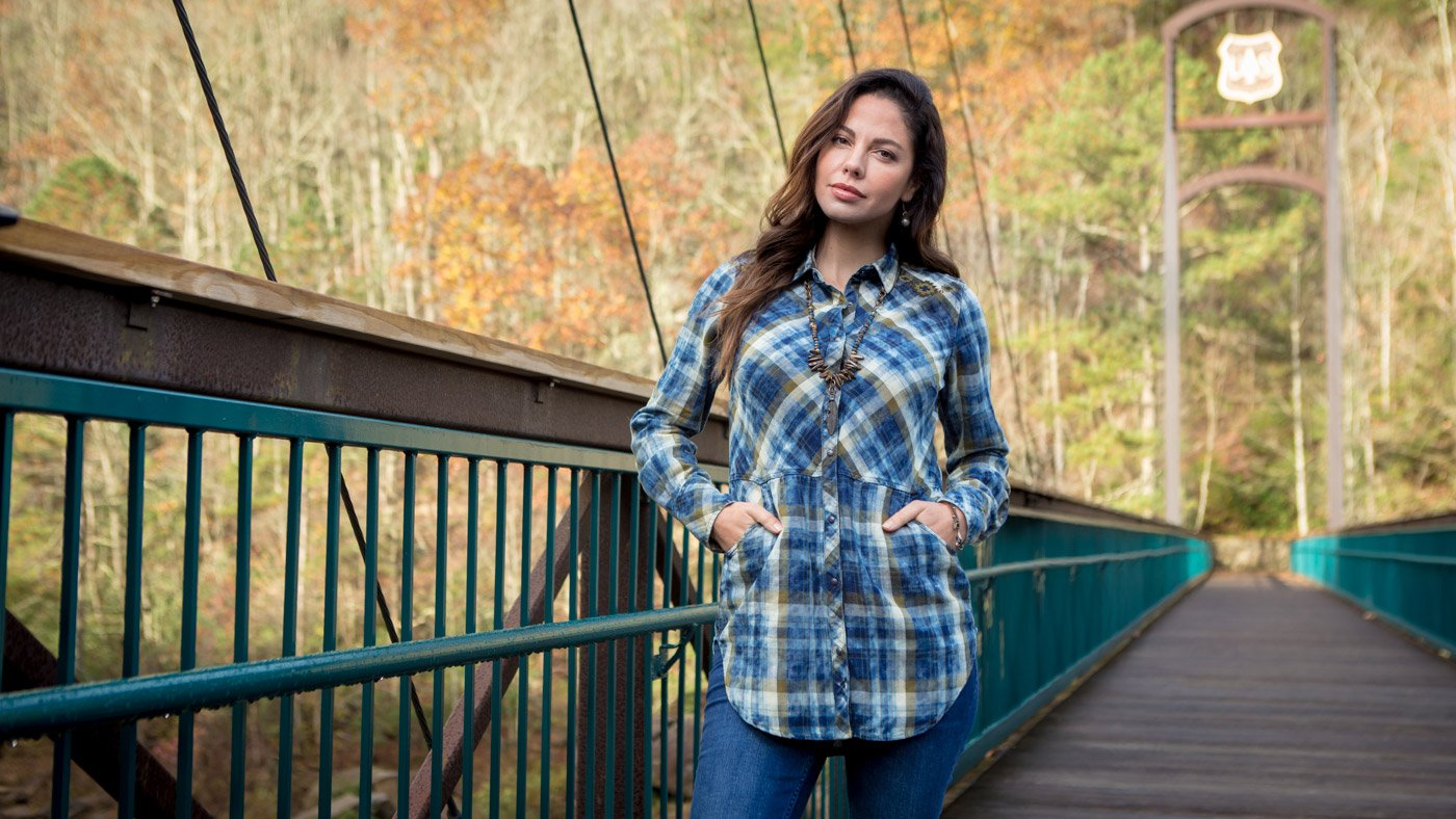 Cloud Washed Indigo Plaid