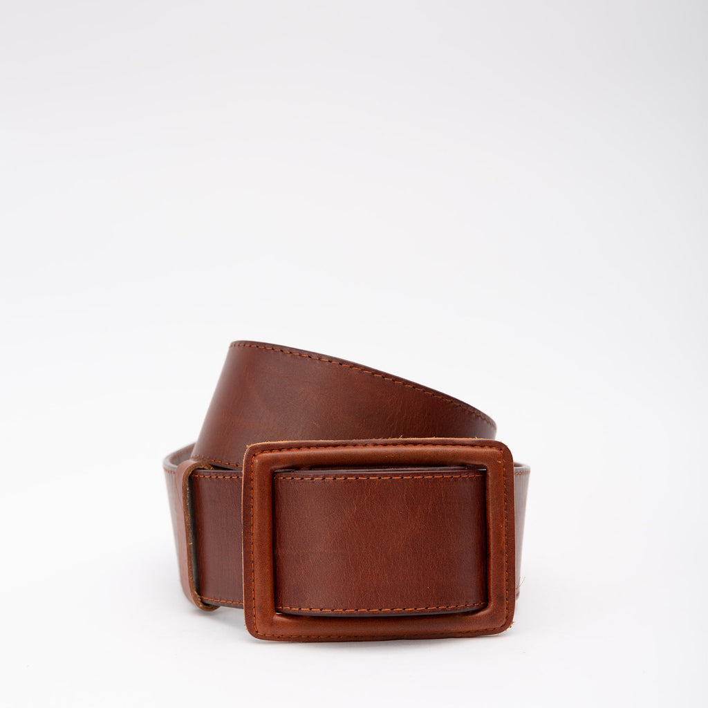 Wide Fit Leather Belt