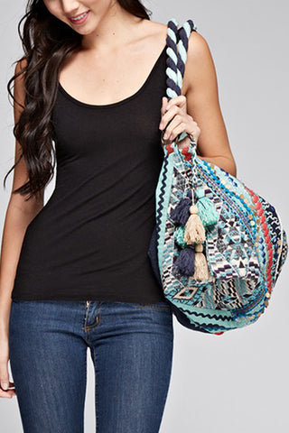 Large Tote with Tassels - Multi