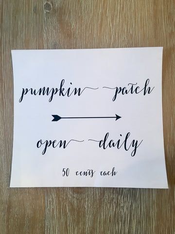 Pumpkin Patch Print- Fall Collection - Limited Time Only!
