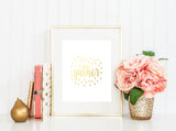 Gather With Love - Gold Foil Print