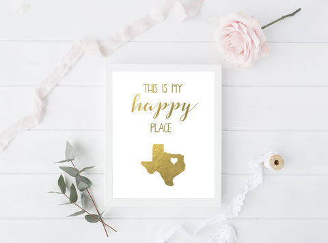 This Is My Happy Place - Custom State Print