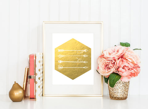 Boho Arrows - Gold Foil Print - Boho Beauties Collection