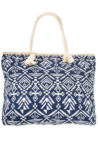 Large Print Tote Bag - Navy