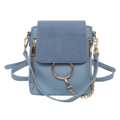 Capri Blue Mini Backpack/Handbag