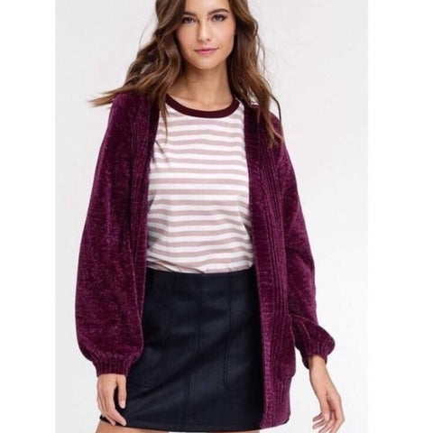CARA LUXE CHENILLE CARDIGAN