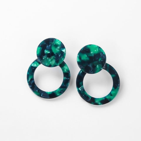 Emerald City Acrylic Geometric Earrings