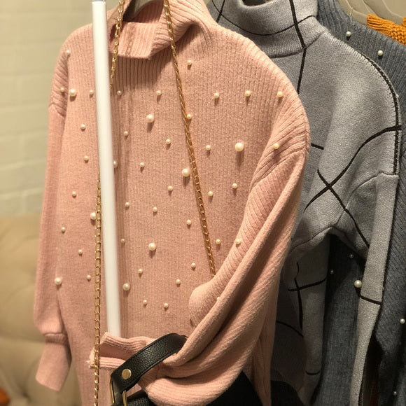 Pretty in Pink Pearl Sweater - BLOGGER FAVORITE