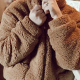 Cozy Teddy Coat - CAMEL