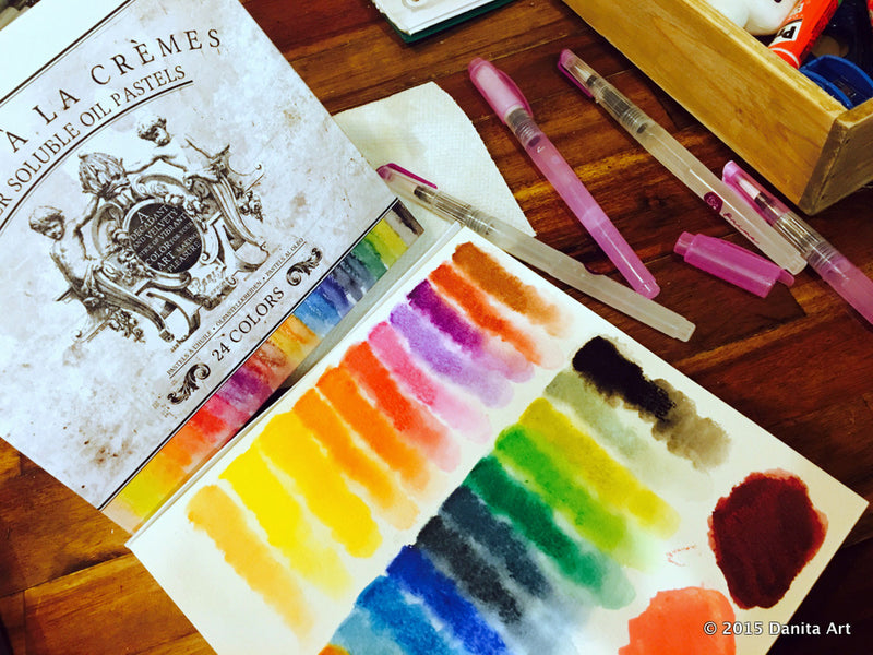 Prima Marketing Watercolor Products. Watersoluble Oil Pastels Review