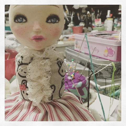 You can see beauty on every step of Danita's original art dolls.