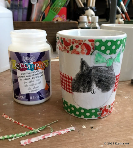 Danita's daughter was super happy to see her art preserved with Dishwasher-Safe Decou-Page™. Want one? Just follow the instructions of this amazing DIY Tutorial.
