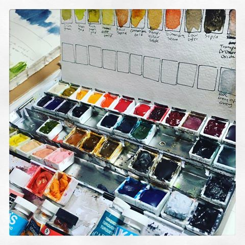 My collection of watercolor paints keeps on growing every day. Sometimes a box of paints arrives every day.