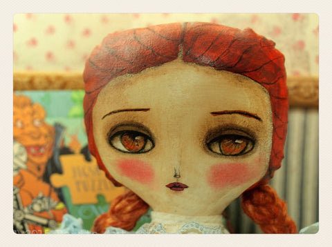 dorothy of Oz has a beautiful face and expressive eyes on this lovely doll by Danita Art.