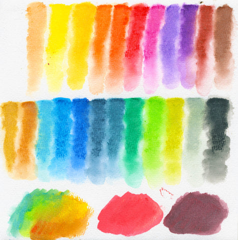 Scanned water soluble oil pastels by prima