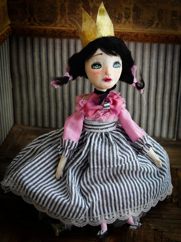 Meet princess Emily, a Danita Art doll handmade for her dollmaking class.