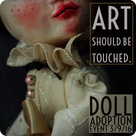 Handcrafted art dolls by Danita Art, complete with beautiful bright eyes, handmade clothes and soulful gazes will be up for adoption on 3/9/2016