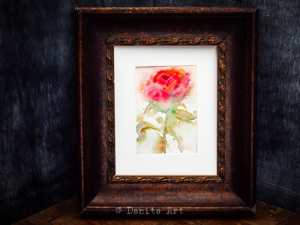 The prince's rose, Original Art by Danita Art