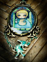 Alice in the rabbit's house, Jewelry by Danita Art