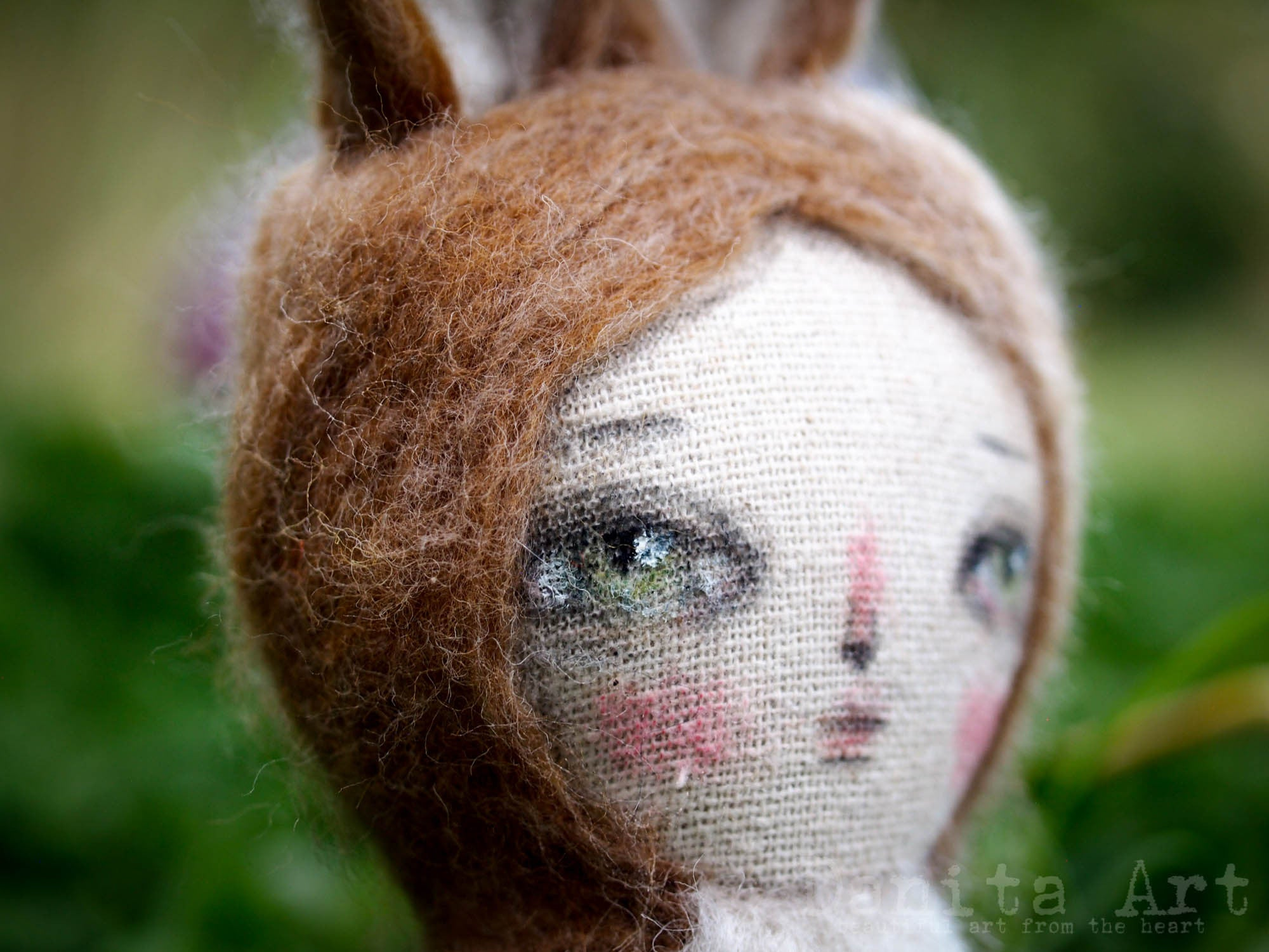 Danny, the fluffy bunny, Miniature Dolls by Danita Art