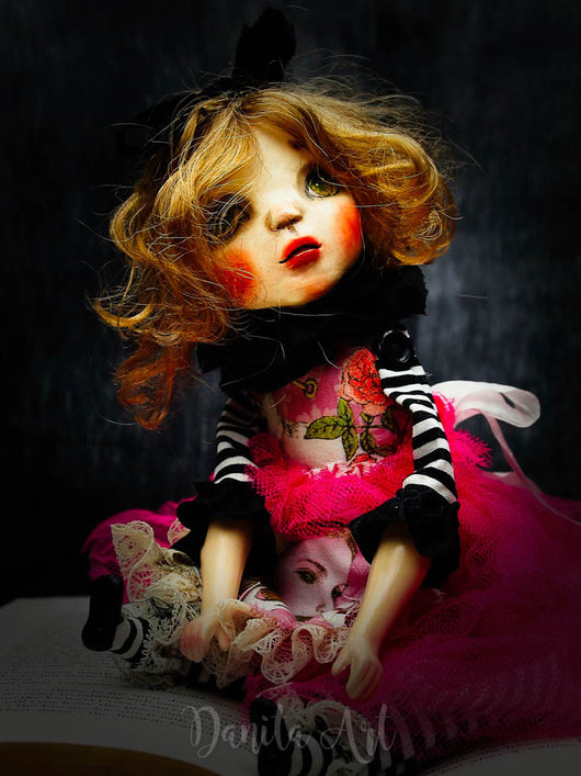 Alice in Wonderland, Art Doll by Danita Art