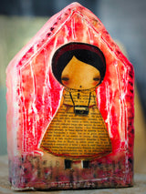 This is one of my favorite images, the photographer. She lives on a beautiful beeswax encaustic house.