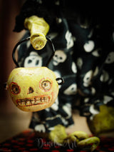 The whimsy of Halloween combines with dark adorable monsters in Danita's beautiful art dolls