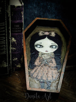 A beautiful Halloween original vampire girl by Danita Art