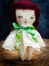 Samantha is a hand made fabric art doll created by Danita Art