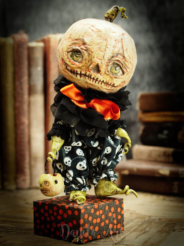 Sam, the prince of Halloween, Art Doll by Danita Art