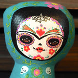 FRIDA: An original hand painted soft plush art doll by Danita