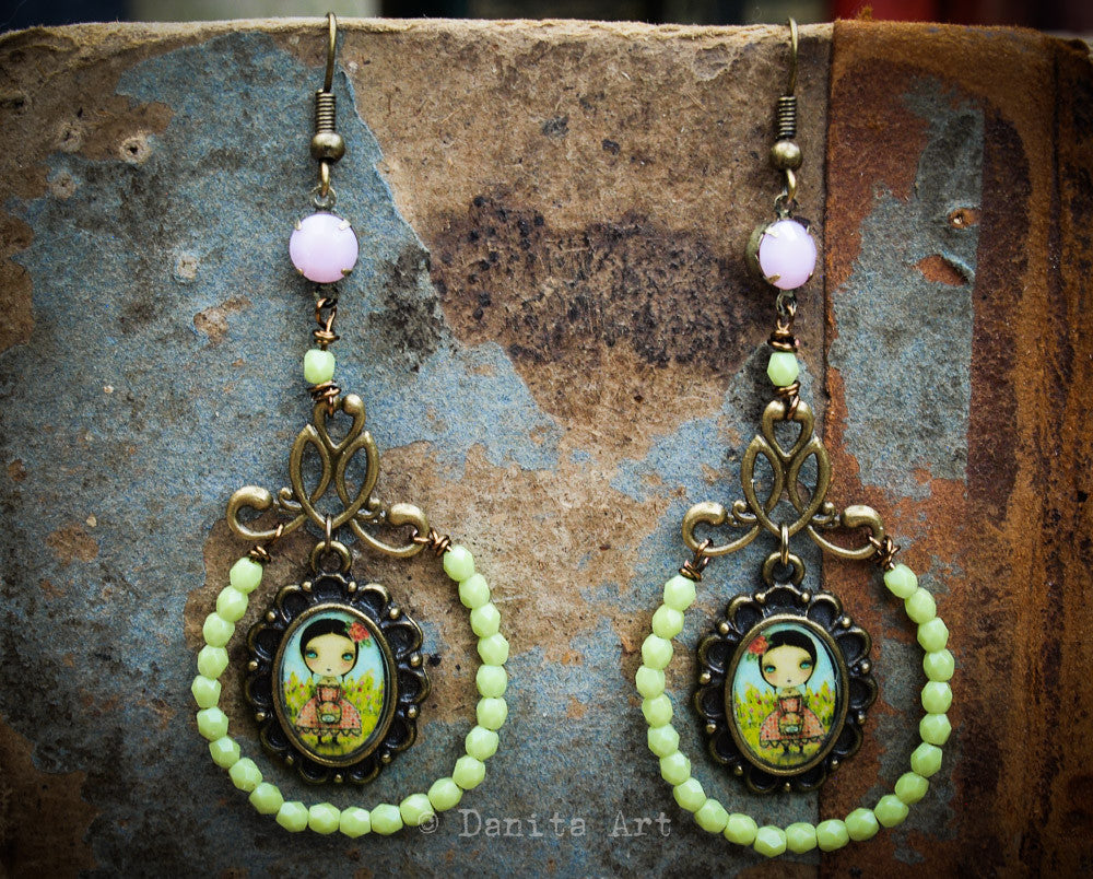 Sweet peas, Jewelry by Danita Art