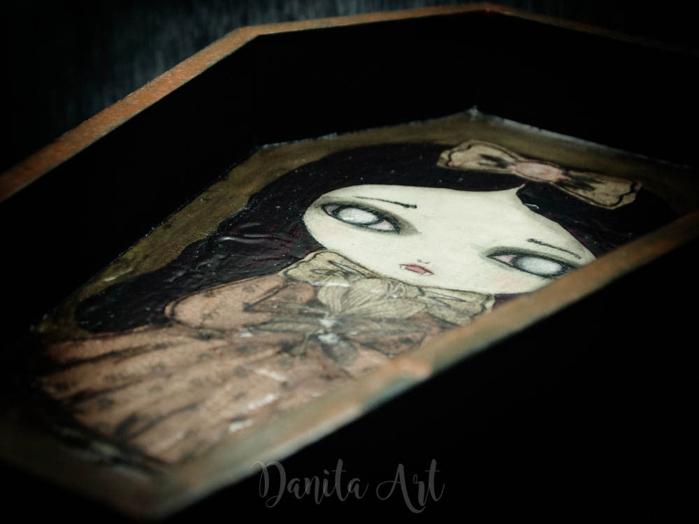 Layla, the vampire, Original Art by Danita Art
