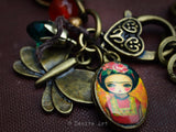 Frida and the butterflies, Jewelry by Danita Art