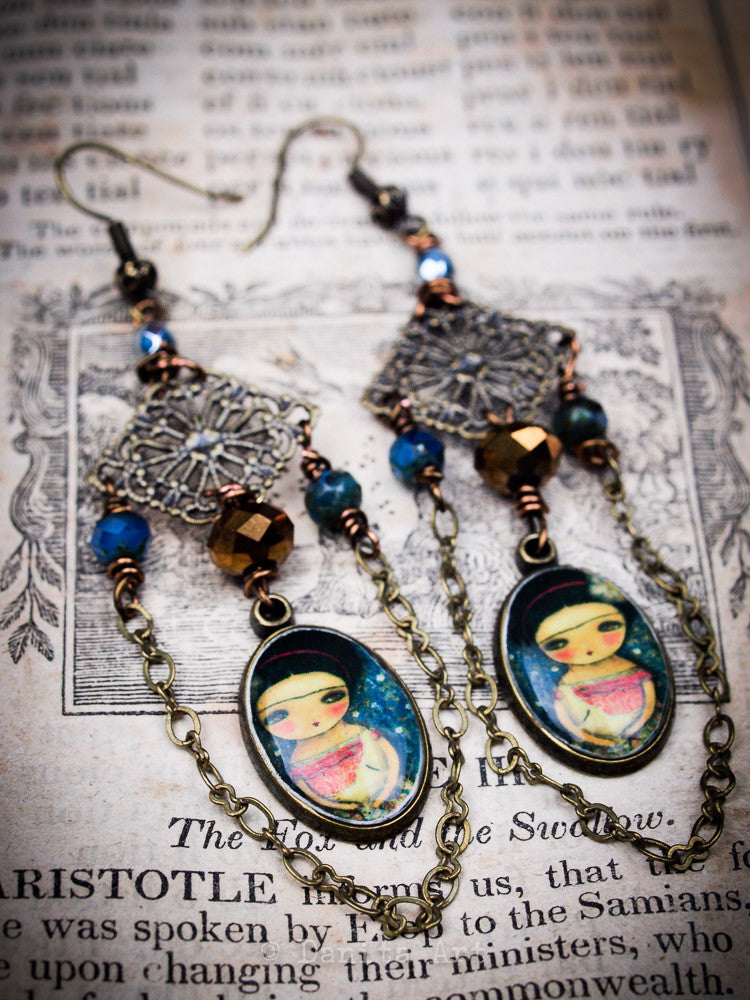 Lullaby for the moon, Jewelry by Danita Art
