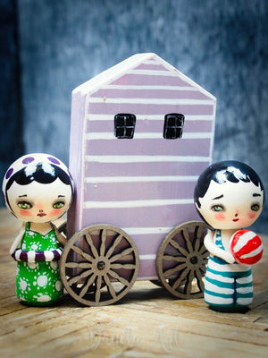 Pink changing house, Miniature Dolls by Danita Art