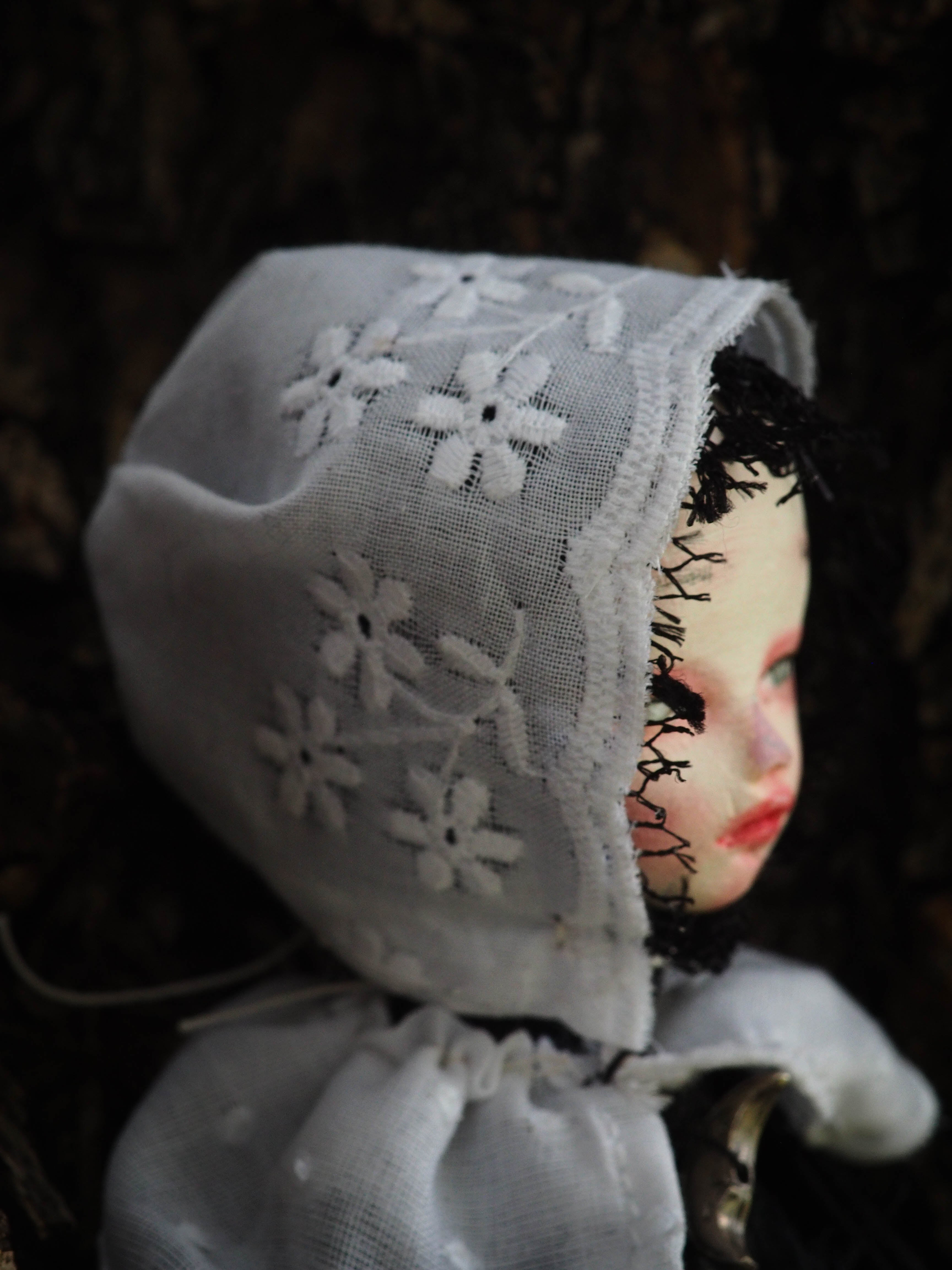 THE WITCH OF SALEM - An original handmade Halloween original art doll by Danita Art