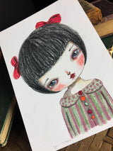 Danita has been experimenting with many different artist materials to bring her creative vision to life. And this time she used colored pencils to achieve a fabulous result.