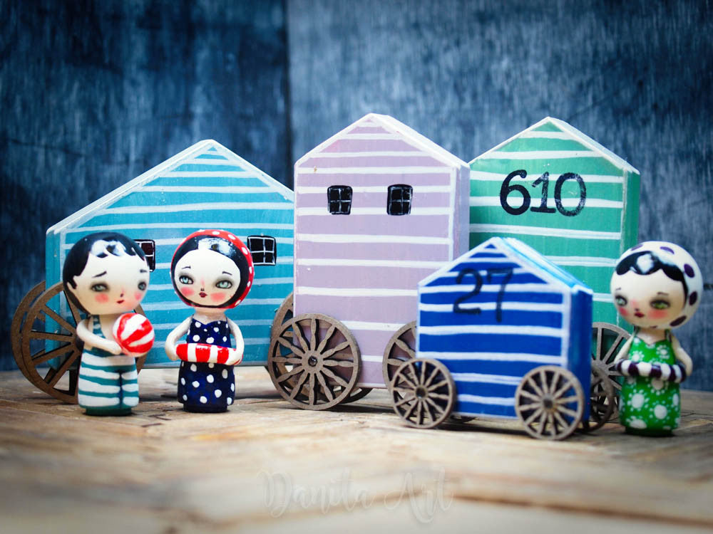 Navy changing house, Miniature Dolls by Danita Art