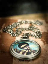 The discovery, a beautiful handmade necklace inspired by circus and carnival imagery, by Danita Art