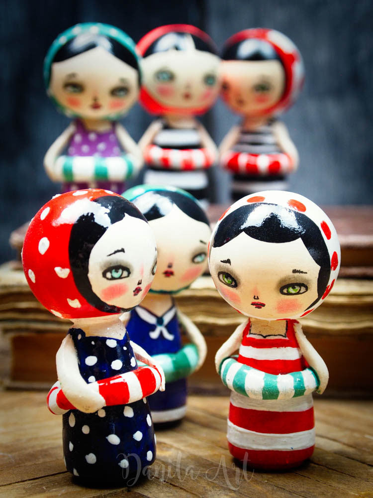 Lenora, Miniature Dolls by Danita Art